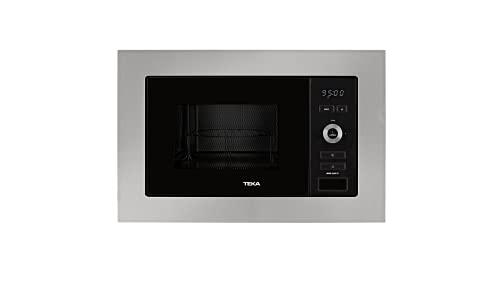 Teka MWE 225 FI - Microondas Integración, Grill, Capacidad 20 L, 5 Niveles de potencia, 800 W, Acero Inoxidable, Cristal, Gris y Negro