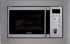 Mepamsa Inset Mwe 17 Microondas digital grill de inox, 700 W, 17 litros, Acero inoxidable