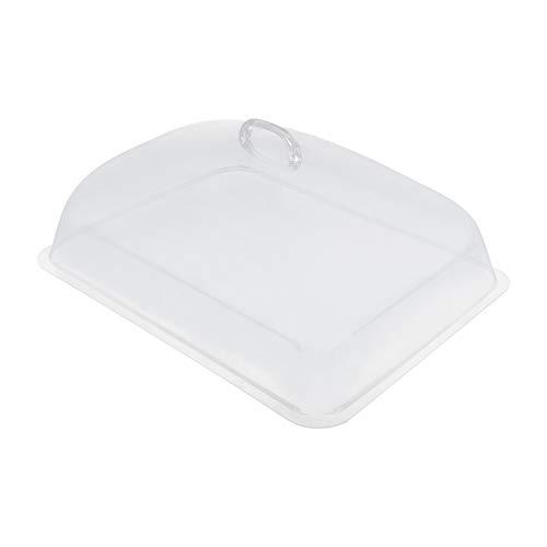 Hemoton Cubierta de Comida Domo Rectangular Protector de Pantalla de Alimentos Cúpula de Plástico Pastel Mosca Pastel Queso Mantequilla Postre Cubierta de La Placa de Microondas para