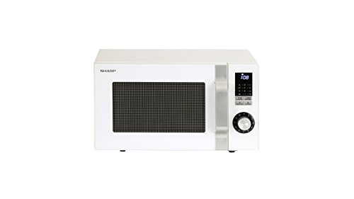 Sharp R-744W - Microondas (900 W), color blanco