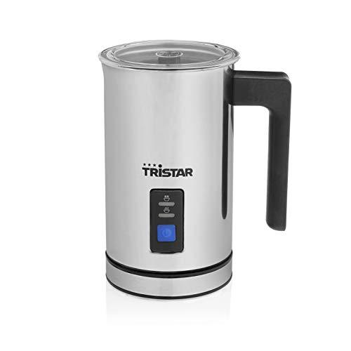 Tristar MK-2276 Espumador y Calentador de Leche, Capacidad de 240 ml, Base 360º C, 500 W, Acero Inoxidable