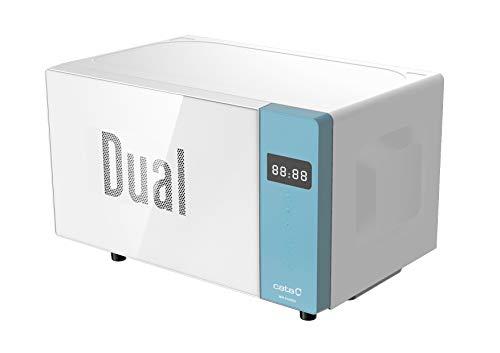 Cata Microondas independiente | Modelo MM 5120M DG azul | 20 litros de capacidad | 5 niveles de potencia | Superficie de cristal blanco | 45 cm de ancho