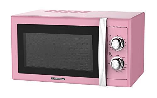 Microondas, 20 l, 700 W, mecánica vintage, rosa