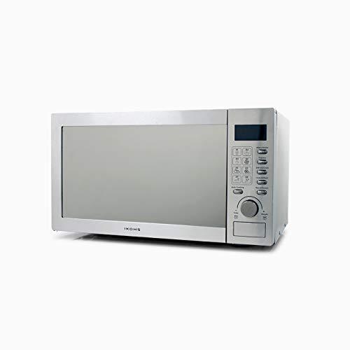 CREATE Microondas HW800S Plateado - Microondas, 800W,Capacidad de 23L, 5 Niveles de Potencia, Temporizador hasta 30 minutos, Menú Automático 8, Cocción Multifrecuencia, Dispone de Reloj Digital