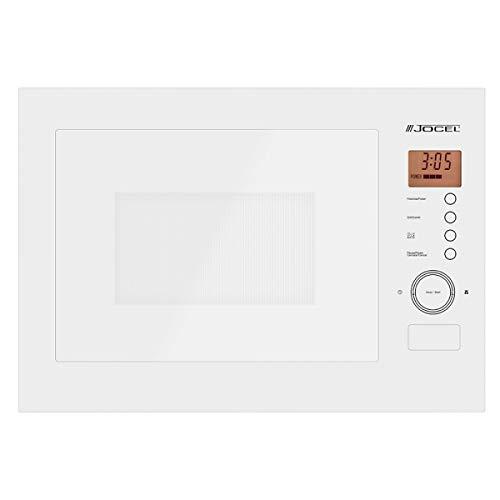 Microondas Encastrable Jocel JME001368, 25 L, Función Grill, 1000W, Panel Táctil, blanco