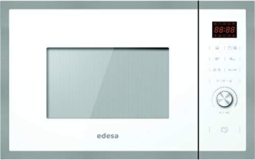 Edesa  Microondas Encastre Integrado   Modelo: EMW-2530-IG XWH   Microondas con grill   Capacidad de 25 L   5 niveles de potencia   Acabado en cristal Negro