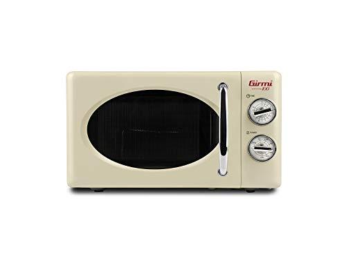 Girmi FM2105 - Horno microondas combinado, diseño vintage, 20 l, 700 + 800 W, color crema