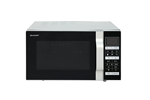 Sharp Home Appliances R860S Encimera - Microondas (Encimera, Microondas combinado, 25 L, 900 W, Tocar, Plata)