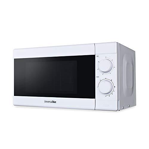 UNIVERSALBLUE - Microondas con Grill - Microondas Blanco - Capacidad 20L - Potencia 700W - 10 Funciones