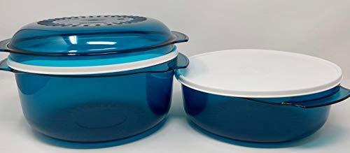 Tupperware Microcook Micro Cook - Microondas (3 L, 1,75 L, con tapa), color turquesa