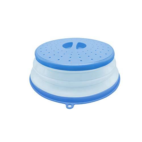 Tapa Microondas,Cubierta del microondas,Colador Plegable Para Microondas,Para Calentamiento por Microondas y a Prueba de Salpicaduras,Conservación de Alimentos (azul)