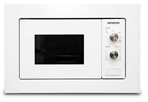 MICROONDAS INTEGRACION IMW-WHITE1720 INFINITON (BLANCO, 20L, Potencia 800W, Grill 1000W, Capacidad 20l, Plato 24,5 cm, Descongelador)