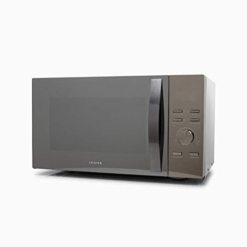 CREATE Microondas HW800M Espejo - Microondas, 800W,Capacidad de 23L, 3 Niveles de Potencia, Temporizador hasta 30 minutos, Menú Automático 7, Cocción Multifrecuencia, Dispone de Reloj Digital