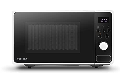Toshiba MM2-AM23PF(WH) Microondas con 8 programas automáticos para preparar rápida y descongelar los alimentos, 23 L, 800 W, color blanco