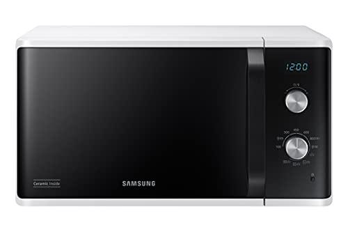 Samsung Microonde MG23K3614AW Horno Microondas Grill, 23 litros, 800 W, Grill 1100 W, Blanco