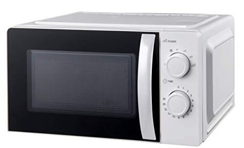 Ohmex OHM-MWO-2089 - Microondas, capacidad 20 L, 6 niveles de potencia, 700 W, control mecánico, función de descongelación, color negro