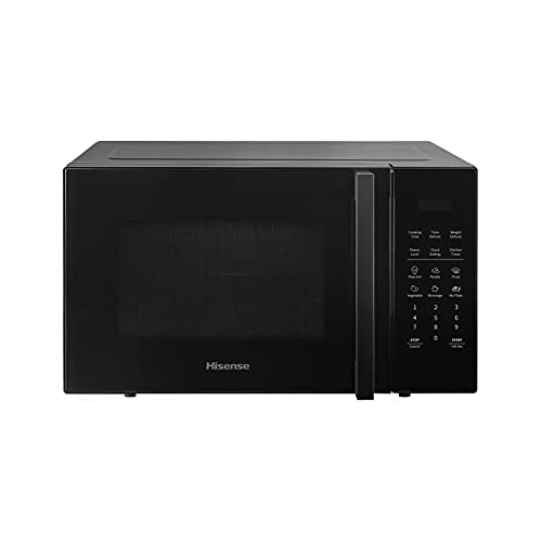 Hisense H23MOBS5HUK - Microondas (23 L, 40,6 x 48,3 x 30,5 cm), color negro