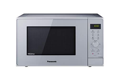 Panasonic NN-GD36H - Microondas con Grill (1000 W, 23 L, 6 niveles, Grill Cuarzo 1100 W, Plato Giratorio 285 mm, Control tácti L, 17 modos, Turbo Defrost, tecnología Inverter) Plata