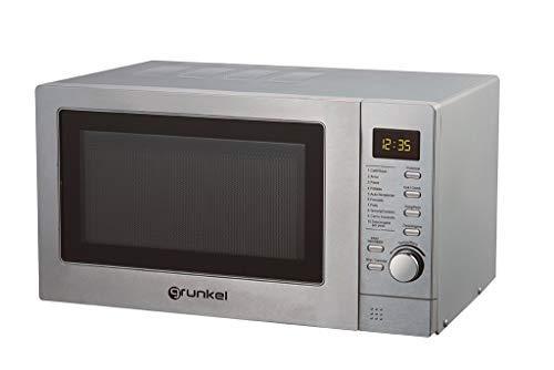 Grunkel - MWG-25DXT - Microondas digital con grill de 25l de capacidad, 6 niveles de potencia y 2 de combinado - 900W - Acero inoxidable