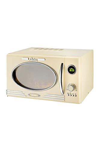 Efbe-Schott SC MW 2500 DG Microondas Digital de Estilo Retro con función Grill y programas automático, 1000 W, 25 litros, Metal, Cristal, Plástico
