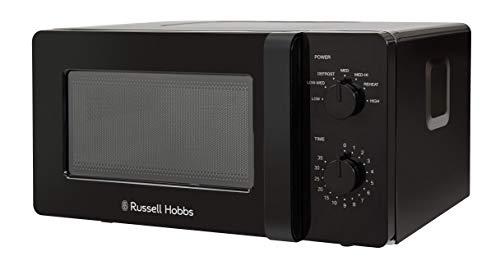 Russell Hobbs RHM1401B - Microondas manual pequeño y compacto (14 L, 600 W, 6 niveles de potencia, descongelación automática, control de marcación y fácil de limpiar, para caravana y hogar
