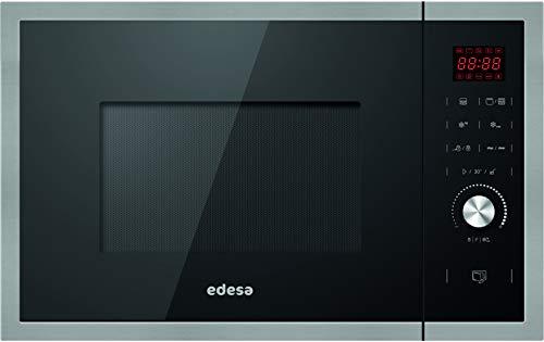 Edesa| Microondas Integrable | Modelo: EMW-2530-IG XBK | Microondas con grill | Capacidad de 25 L | 5 niveles de potencia | Acabado en cristal Negro