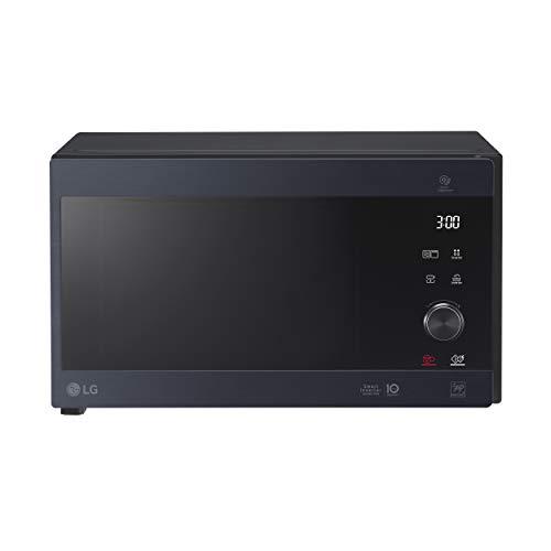 LG MH6565CPW Grill Smart Inverter Microondas 1000 W, Grill 900 W, Micro+Grill 1450 W, 25 litros de capacidad, Display LED, Plato Crispy, Plato interior 292 mm, Matt Black