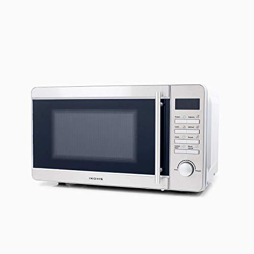 CREATE Microondas MW700S Plateado - Microondas, 700W,Capacidad de 20L, 5 Niveles de Potencia, Temporizador hasta 30 minutos, Menú Automático, Cocción Multifrecuencia, Dispone de Reloj Digital