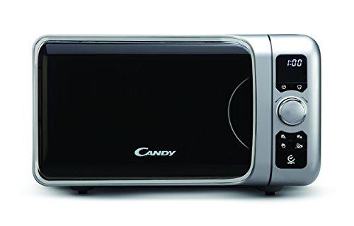 Candy EGO-G25DCS Microondas con grill, 6 programas automáticos, 900 W / 1000 W, 25 litros, silver
