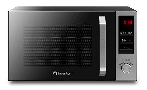 Inventor Microondas MWO-23L-BD, 800W, Grill 1000W, 23 Litros de Capacidad, Modo Combi, Cocción en Dos Tiempos, Descongelación, Temporizador de 95', Color Negro