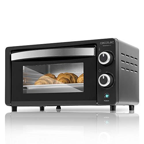 Cecotec Bake&Toast 450 - Horno Sobremesa, Capacidad de 10 litros, 1000 W, Temperatura hasta 230ºC y Tiempo hasta 60 Minutos, Perfecto para Panini y Bollería, 10 litros de capacidad