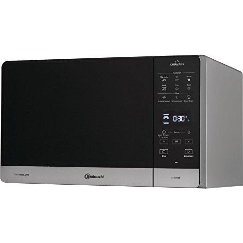 Bauknecht Chef Plus MW 49 SL - Microondas multifunción 5 en 1 (800 W, 25 L, aire caliente 1700 W, parrilla de cuarzo 900 W, doble Crisp y Crispry)