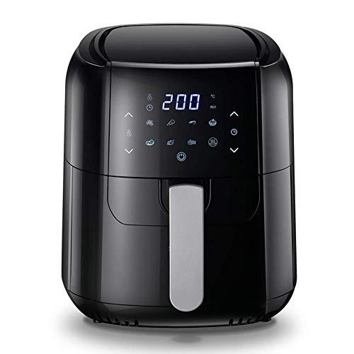 RTOFO Hornos de microondas, Freidora IR, Fríeas de Aire Caliente de 6 litros, Cocina de Aire eléctrica, con 8 instalaciones preestablecidas, Pantalla táctil Digital