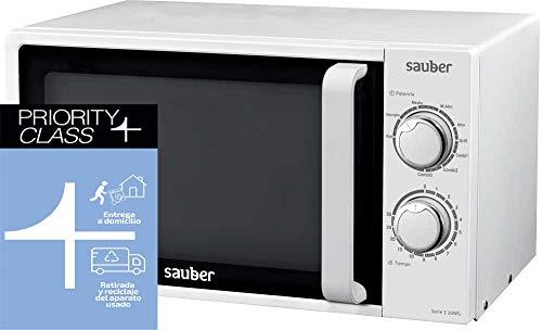 Sauber - Microondas Con GRILL SERIE 3-20WG - 20 litros - Color Blanco