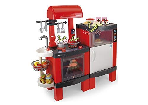 Chicos- Techno Chef Kitchen, Cocinita Infantil con Sonido y Luces, Incluye 31 Accesorios, a Partir de 3 Años, Medidas - 104.4 x 36.8 x 100 cm (Fabrica de Juguetes 85015)
