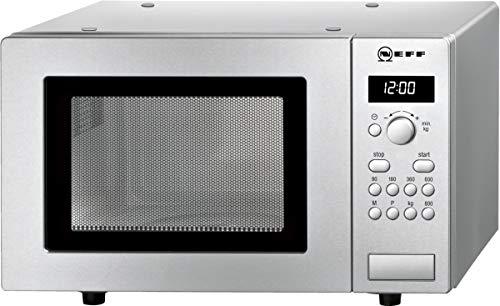 Neff H52W20N3 - Microondas autónomo N30 (29 x 46,1 cm (alto x ancho), 17 L, acero inoxidable, función de descongelación, cocción, 7 programas automáticos