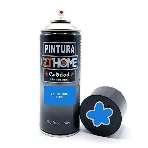 Pintura Spray Azul Celeste 400ml imprimacion para madera, metal, ceramica, plasticos / Pinta todo tipo de cosas y superficies Radiadores, bicicleta, coche, plasticos, microondas, graffiti