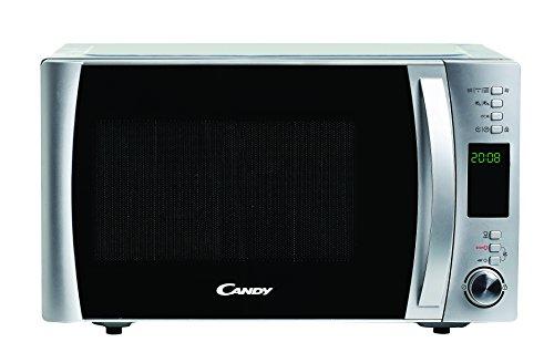 Candy CMXC30DCS Horno Microondas con Grill, Capacidad 30L, Plato Giratorio 31,5cm, 40 programas automáticos, Potencia 900/1100/2500 W, Silver, 900 W, 30 litros, Stainless Steel, Inox