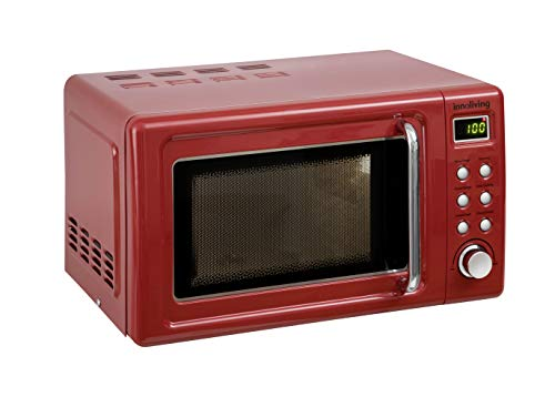 Innoliving INN861R Horno microondas 20 litros, 700 W, Acero Inoxidable