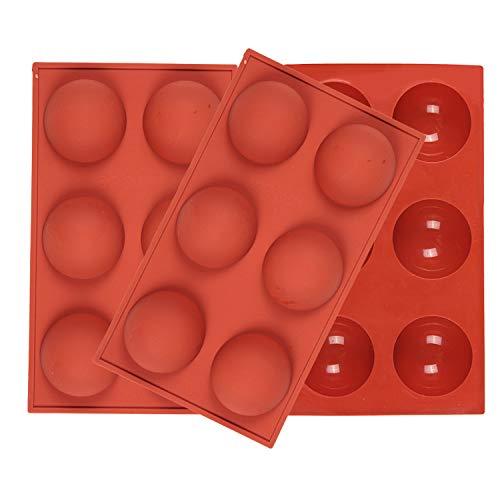 Viilich 3pcs Molde de silicona semiesférica de 6 cavidades,para hornear para hacer chocolate,pasteles,gelatina,mousse de cúpula, moldes de silicona antiadherentes para hornear pasteles y chocolates