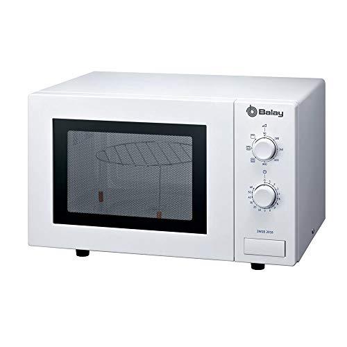 Balay 3WGB2018 - Microondas Serie Acero, con grill, capacidad de 17 litros, color blanco