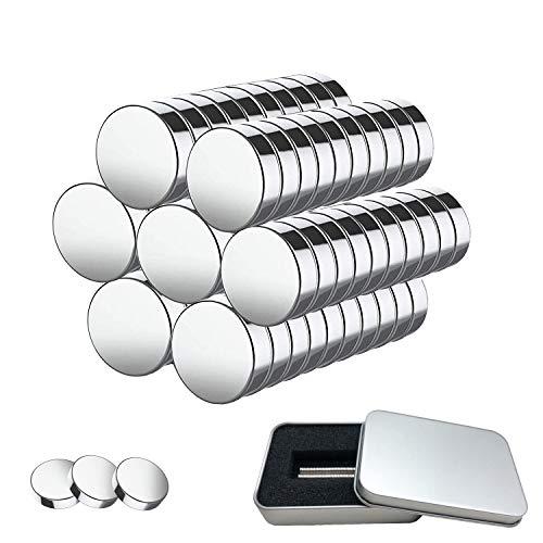 Imanes de Neodimio 100 Piezas de Imanes de Neodimio Fuertes de 5mm x 1mm con caja de Almacenamiento, Mini Imanes para Pizarra, Pizarra Magnética, Tiras Magnéticas, Refrigerador, Horno Microondas