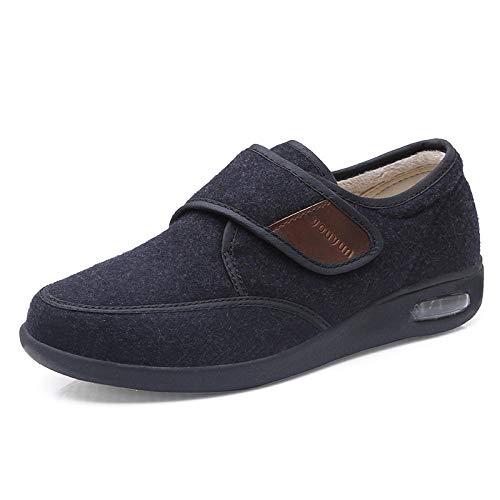 B/H Calzado para la Artritis Edema,Zapatos Ajustables de Mediana Edad y Ancianos, Zapatos Deportivos Antideslizantes con colchón de Aire-Negro_43,Zapatos de Edema de Artritis diabética
