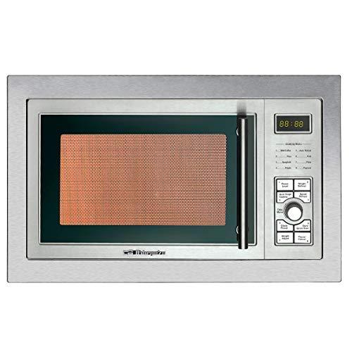 Orbegozo MIG 2325 - Microondas integrable de acero inoxidable, 23 L de capacidad, 9 menús preconfigurados, display digital, temporizador, 900-1000 W