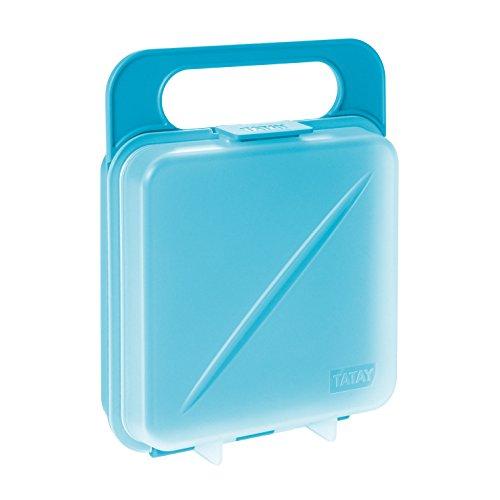 Tatay Porta Sandwich y Alimentos, Libre de BPA, Reutilizables, Apto Lavavajillas y Microondas, Congelacion hasta -40º, 1 Unidad, Color Turquesa, Medidas 14 x 4 x 18 cm