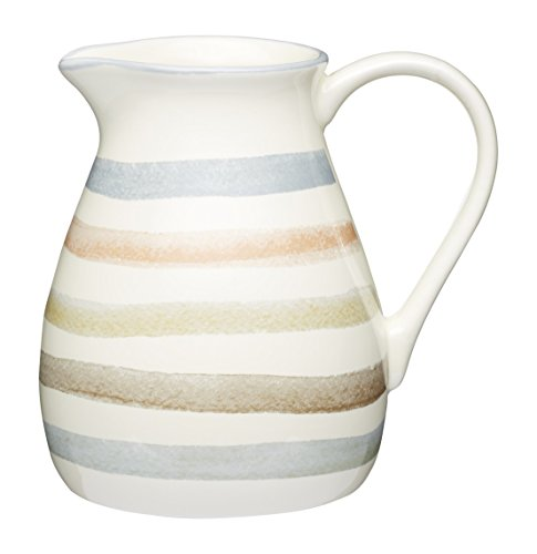 Kitchen Craft Classic de rayas de cerámica jarra de leche, 500ml, 17fl oz, color Crema