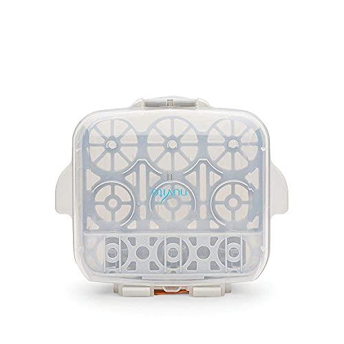 Nuvita 1085   Esterilizador Biberones Microondas   Ultra Compacto 25 cm Cabe en TODOS los Microondas   Compartimento Chupetes y Tetinas Bebés   Asas Anti-Quemaduras   Sin BPA   Marca EU   Blanco