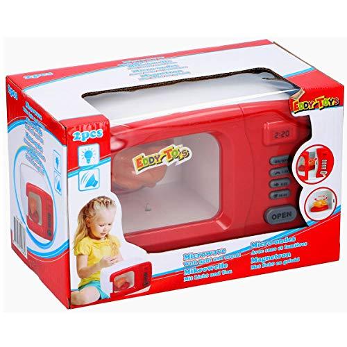 Eddy Toys Microondas eléctrico para niños, microondas con luz y sonido, cocina para niños