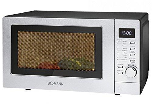 Bomann MWG 2285 H CB - Microondas (1350 W, 20 L, 9 programas de cocción automática, incluye programa de descongelación automático)