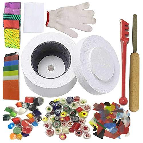 10 Pcs Kit Profesional para Horno de Microondas - Kit de Horno de Microondas Pequeño Profesional para Herramientas de Horno de Fusión de Vidrio DIY Fabricación de Vidrio de Joyería